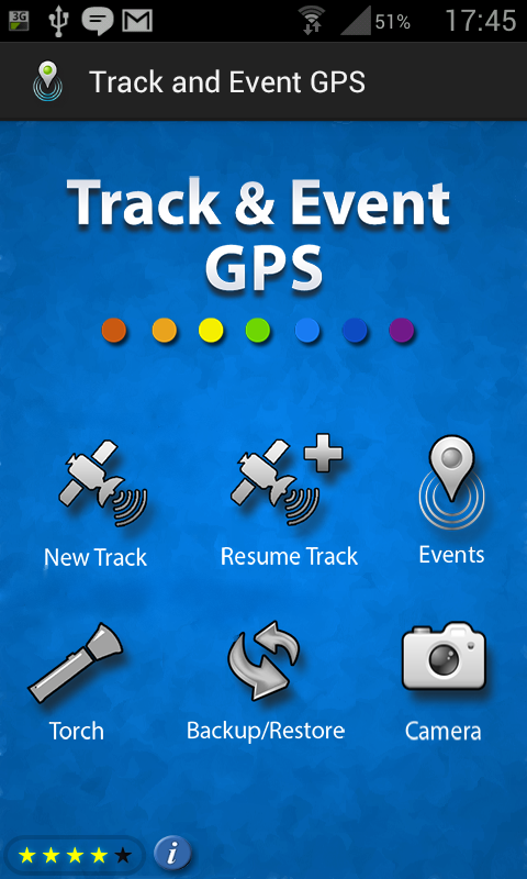 Track and event GPS